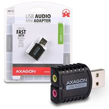 AXAGON ADA-10, USB2.0 - stereo audio MINI adapter